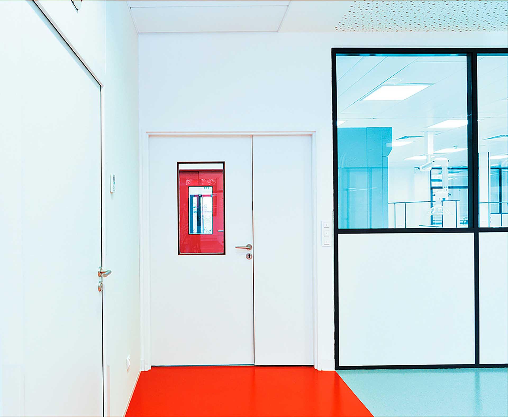 interpose - Cloisons amovibles blocs portes double hauteur standard pleine