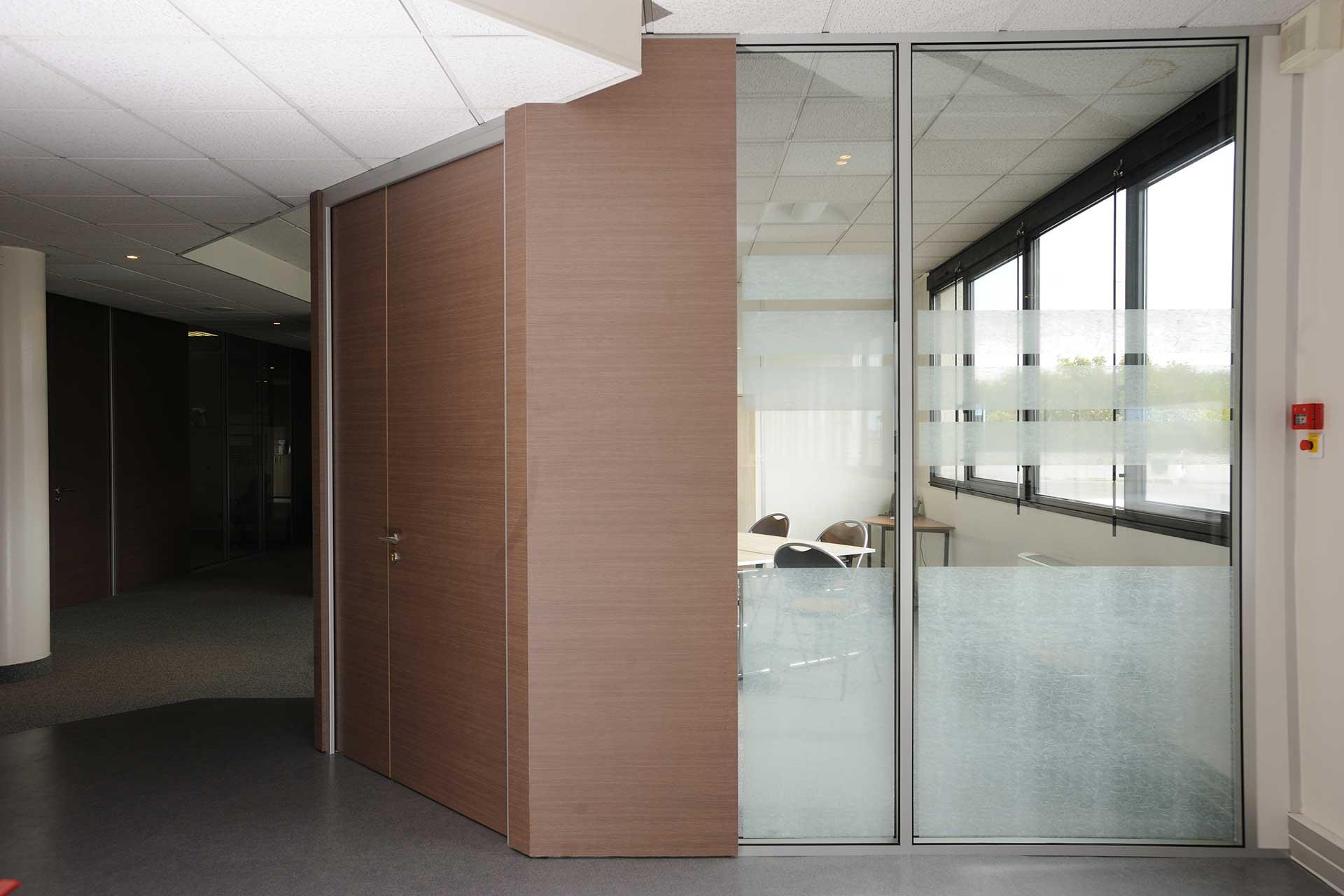 Cloisons amovibles blocs portes double tout hauteur pleine