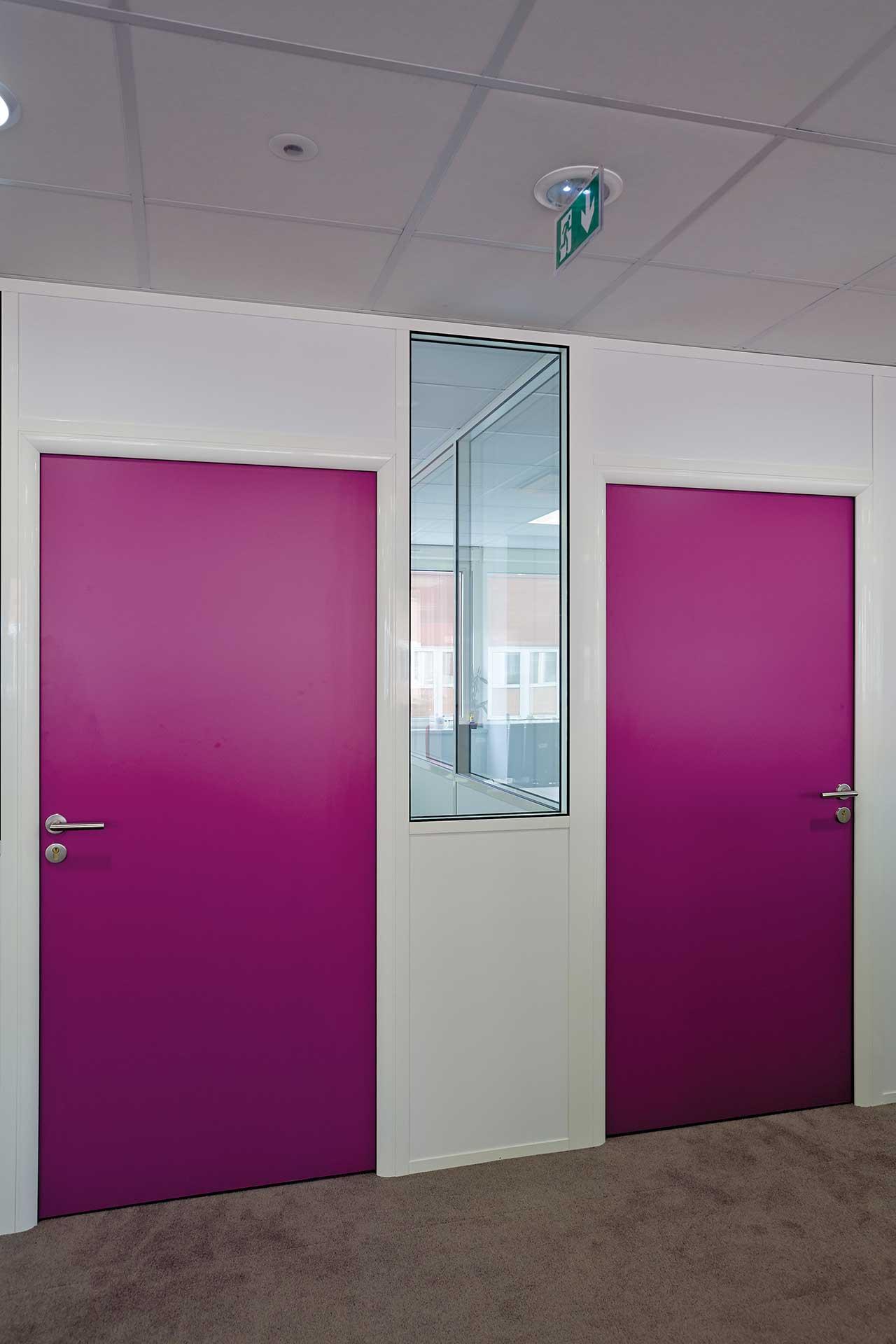 interpose - Cloisons amovibles blocs portes simple hauteur standard pleine