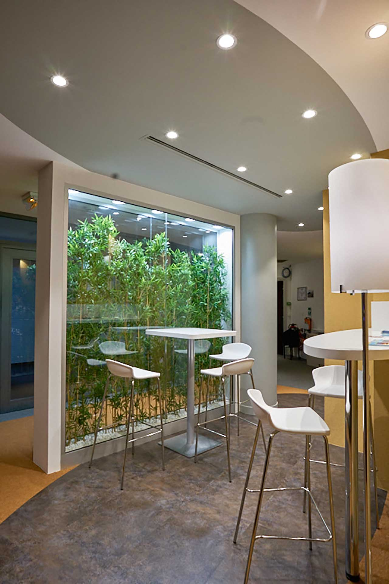 Cloisons amovibles bord à bord vitrées double vitrage végétalisé
