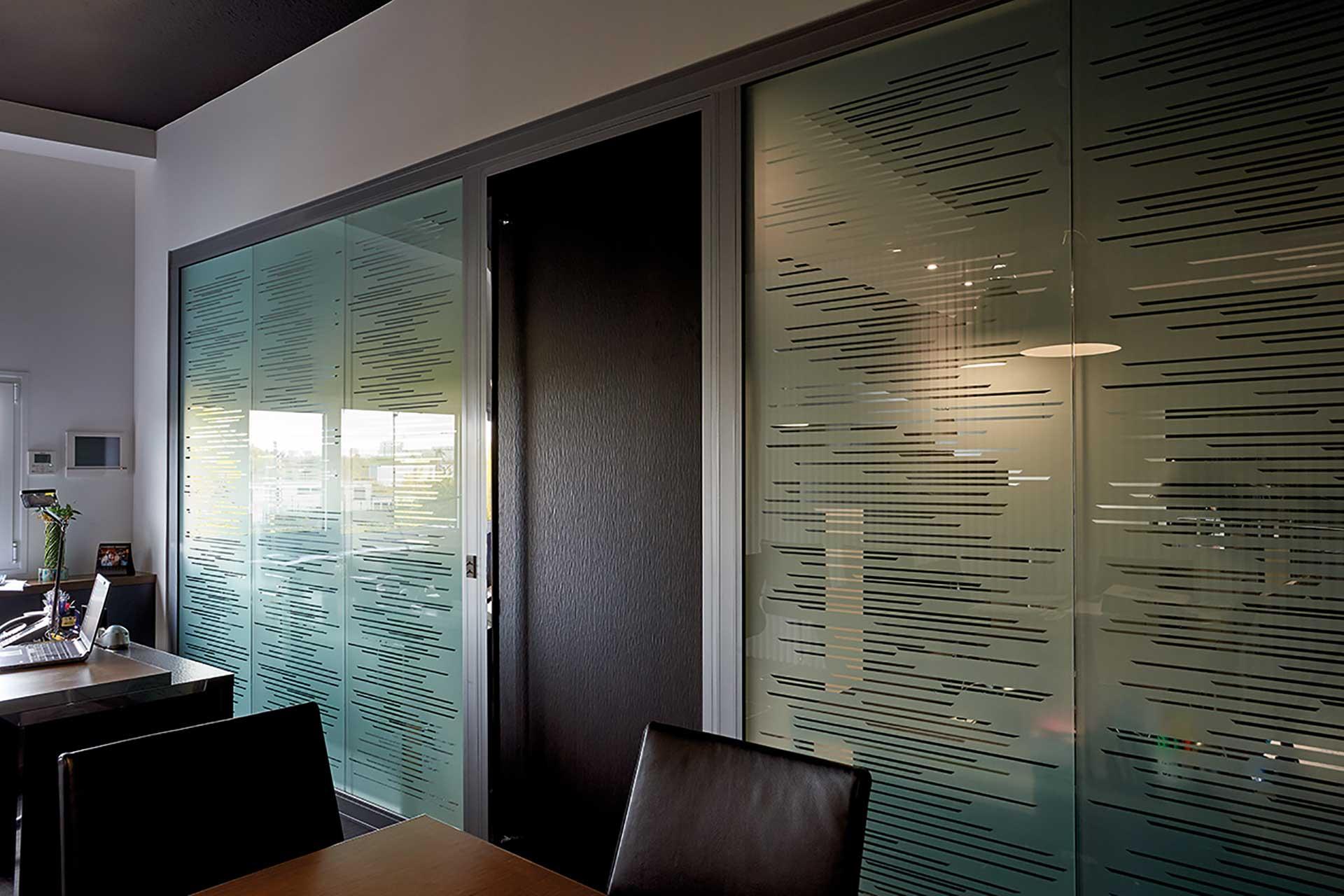 Cloisons amovibles bord à bord vitrées double vitrage vitrophanie