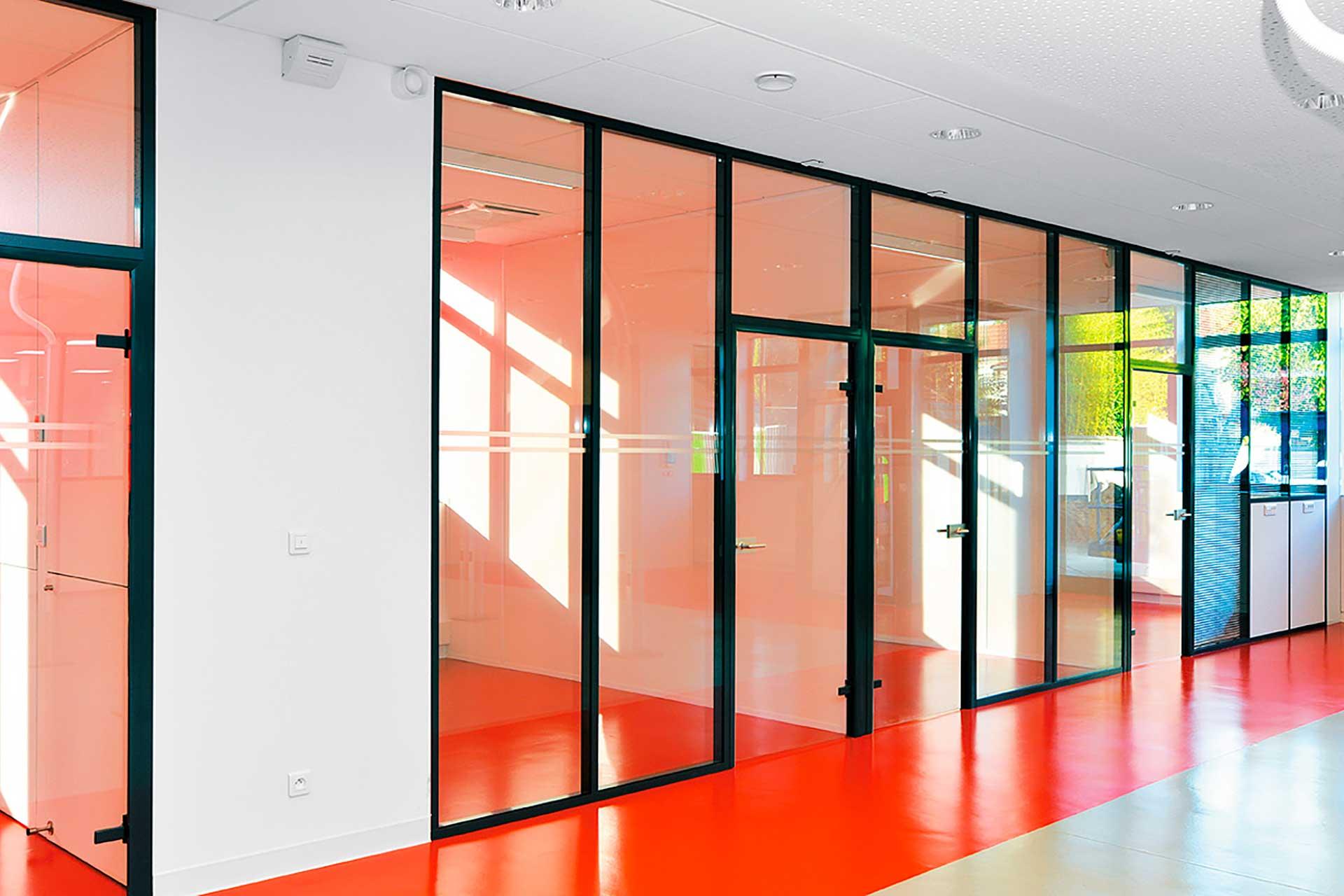 interpose - Cloisons amovibles vitrées toute hauteur vitrage clair
