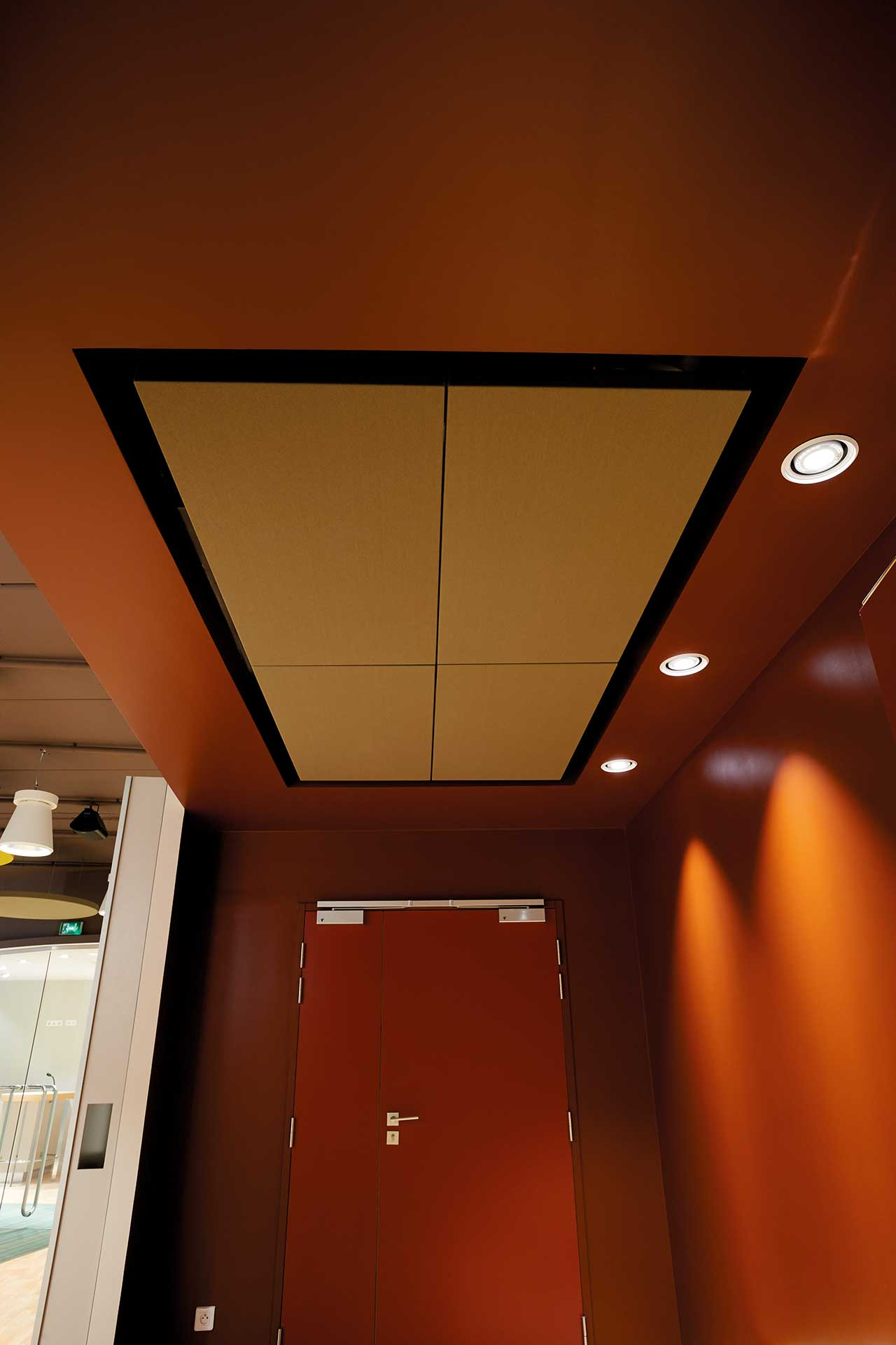 Correction acoustique pour plafonds absorption cadre acoustique
