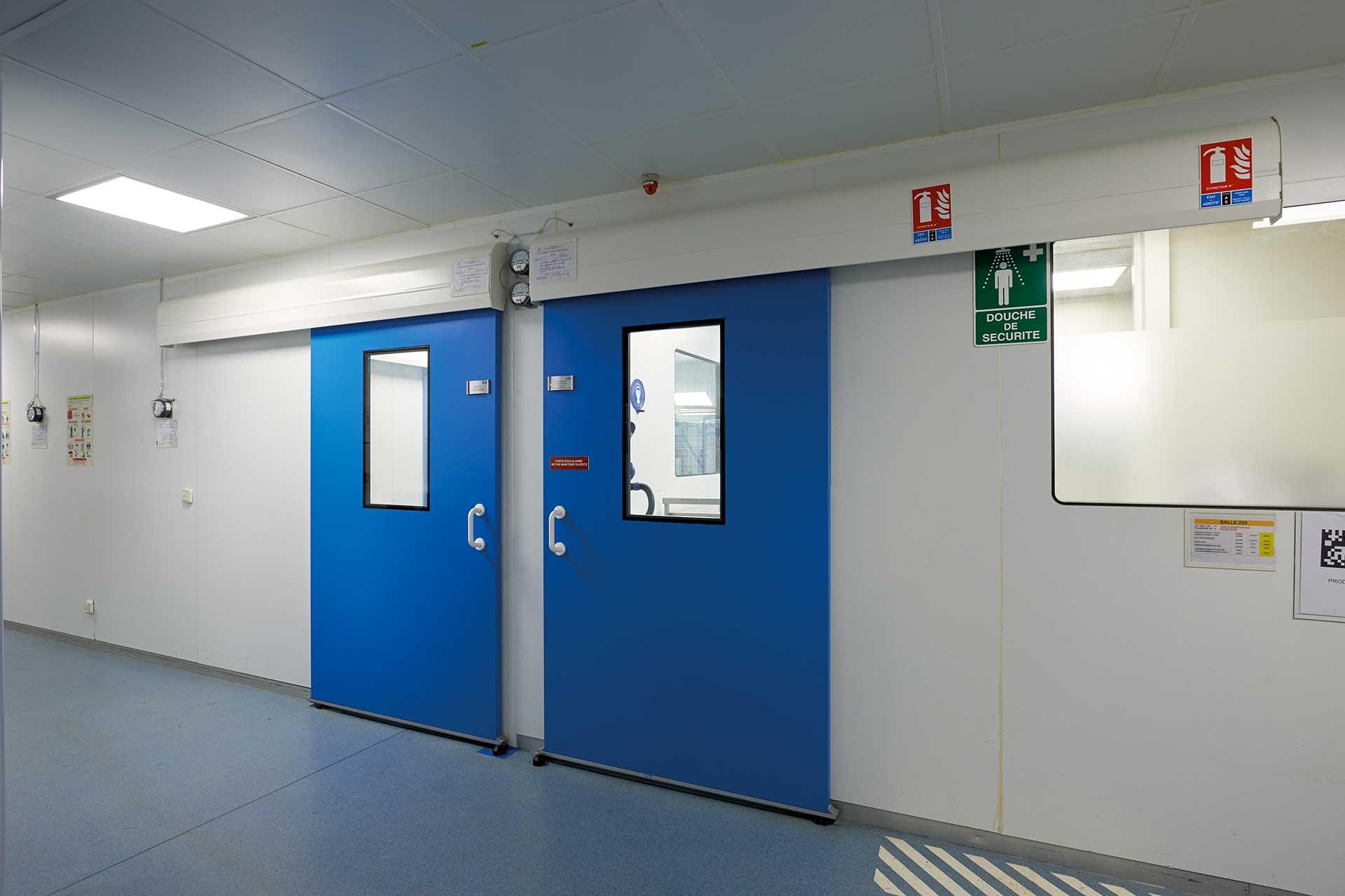 Salles propres bloc porte occulus