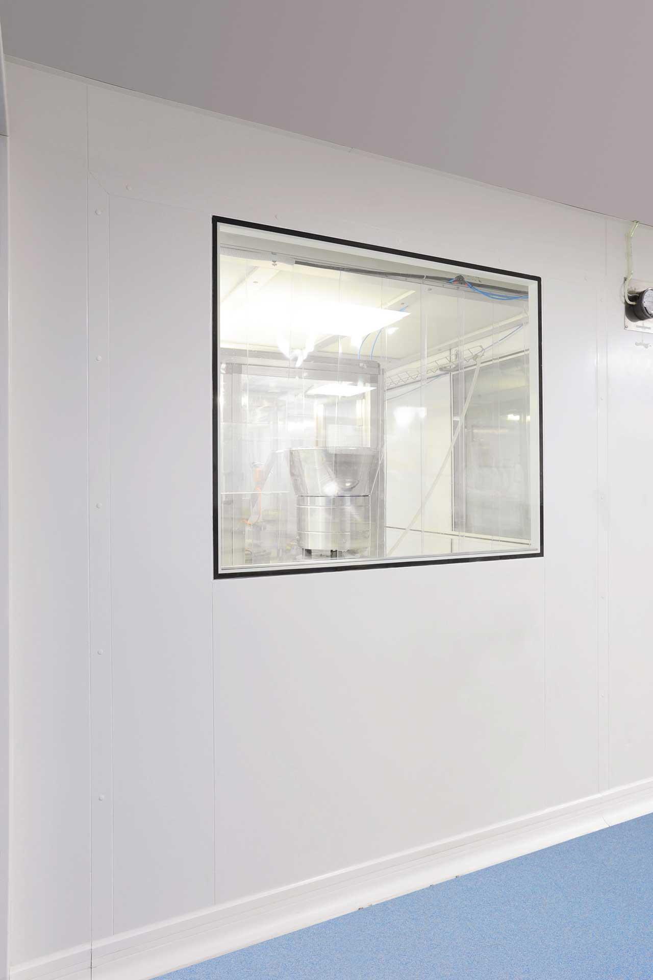 Salles propres cloisons vitrées